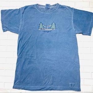 Life is Good Navy T-Shirt